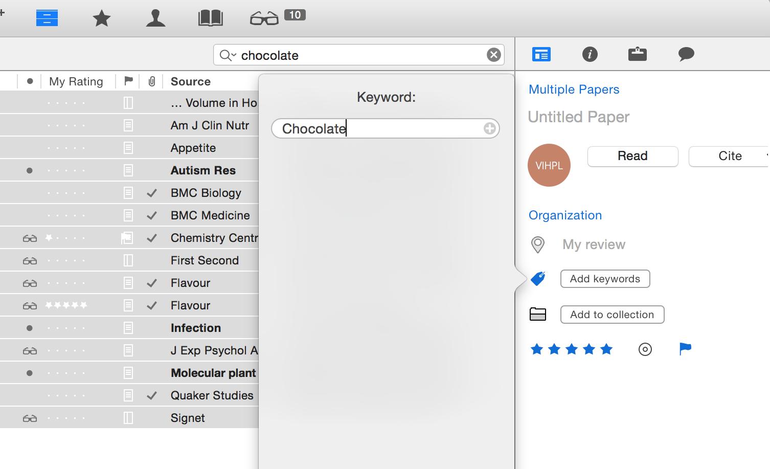 keyword Smart Collection - apply keyword